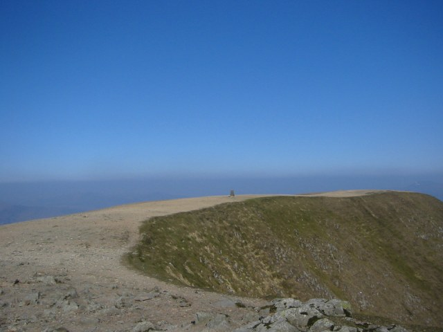 Helvellyn Summit on a clear day