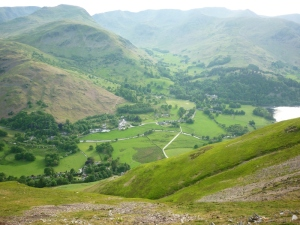 Patterdale with cricket pitch Photo © Rob Shephard