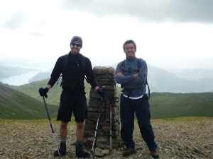 Fraser & Mark on Helvellyn