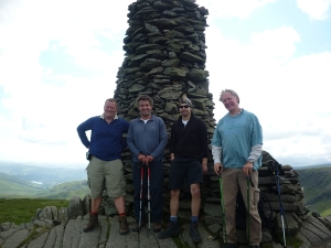 Rob, Mark, Fraser Gav on Thornthwaite Beacon