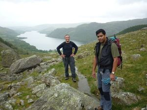 View down Glencoyne with Luke and Chris