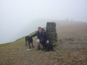 Morgan Scruffy and Rob atop Helvellyn