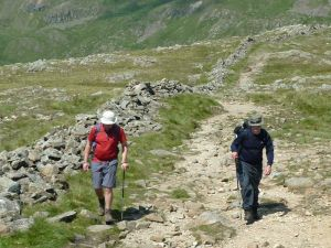 John and Anthony on the way up Red Screes