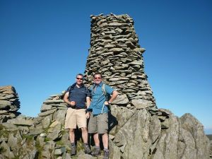 Vince and Mike up Thornthwaite