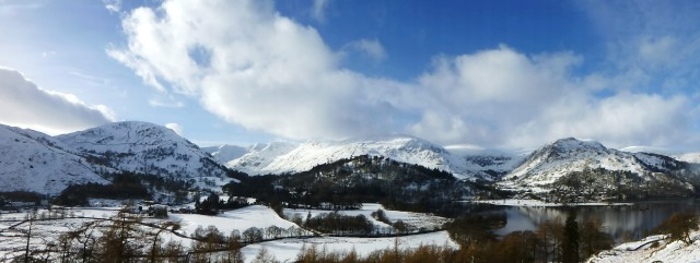 Ullswater and Helvellyn in the Snow