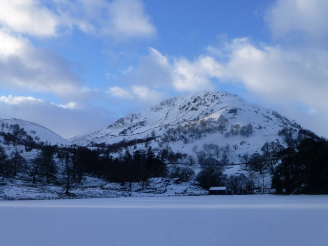 St Sunday Crag in the Snow from Patterdale