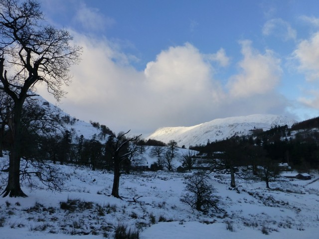 Towards Helvellyn in the Snow