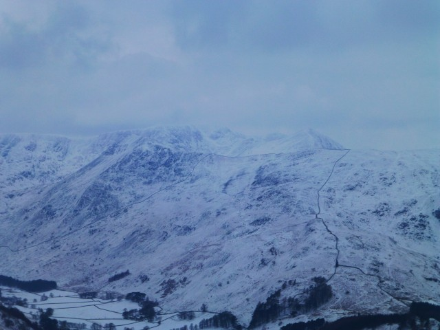 View of Helvellyn in the Snow