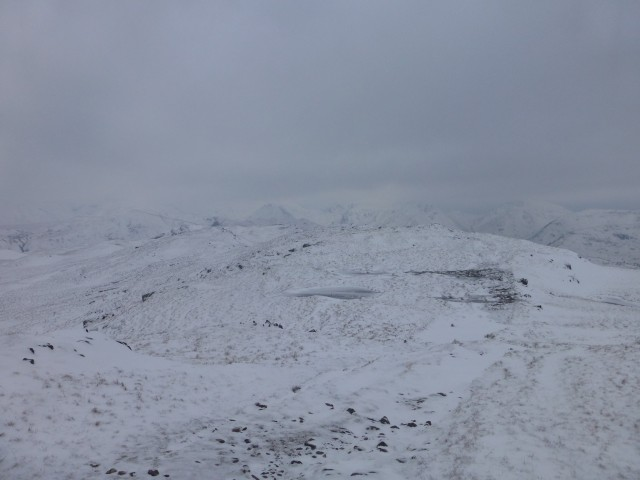 Place Fell Summit Ridge in the Snow