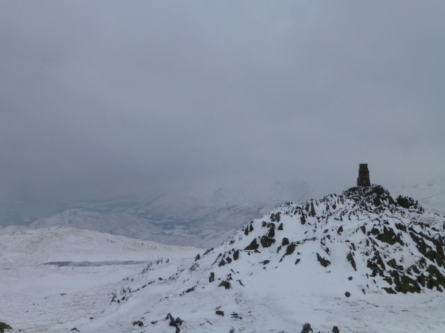 Place Fell Summit in the Snow