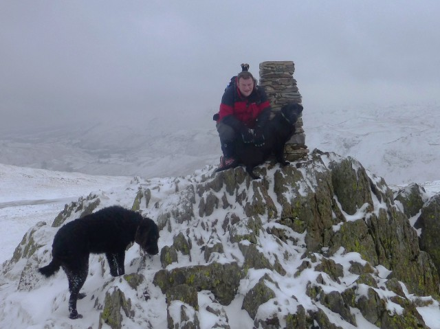 Summit of Place Fell in the Snow
