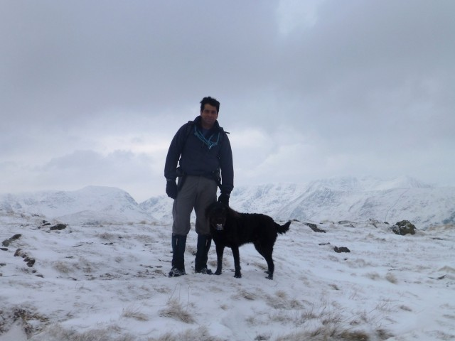 Place Fell Summit in Snow