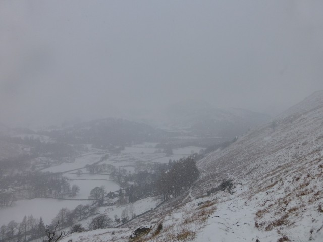 Snow over Ullswater