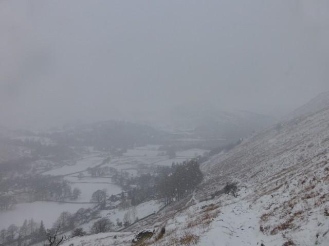 Snow over Ullswater