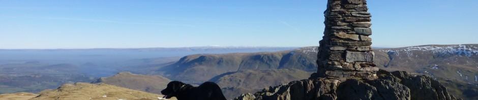 Morgan on Place Fell Summit