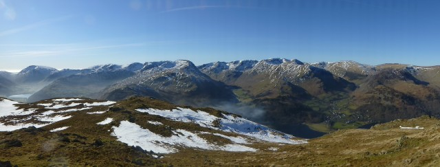 Panorama of Ullswater and Brotherswater