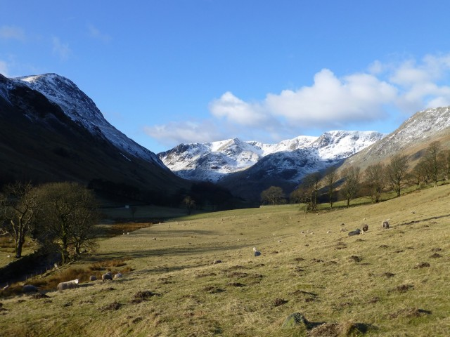 View up Grisedale Valley