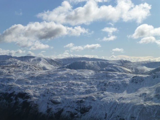 Snow covered Lake District Fells