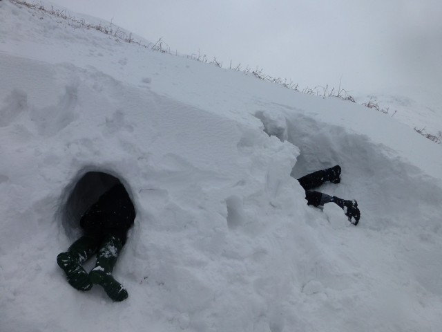 Snow Hole Fun