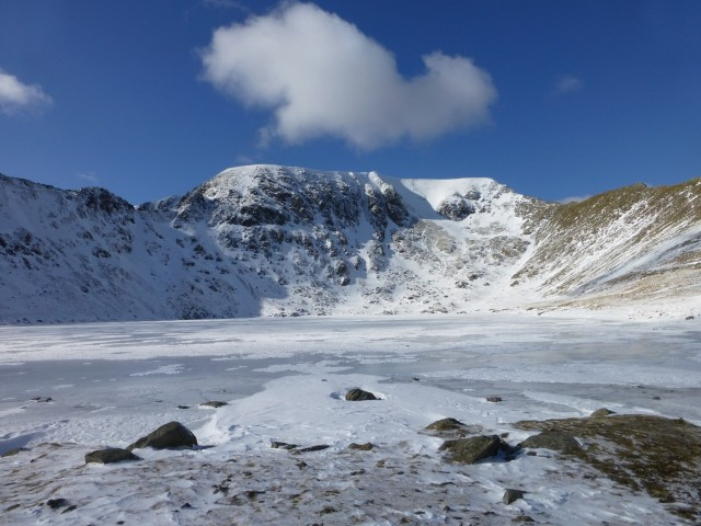 Hevlellyn and Red Tarn in the Snow