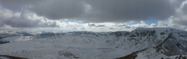 Looking south across Striding Edge to Morecambe Bay