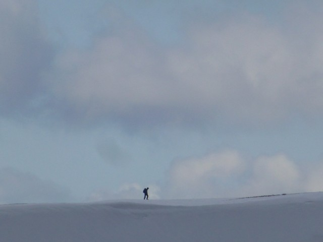 Lone walker on Helvellyn Lower Man
