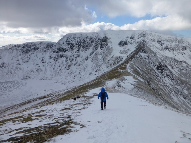 Descending from Catstycam towards Swirral Edge