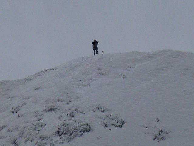 Man with Ice Axe on Helvellyn