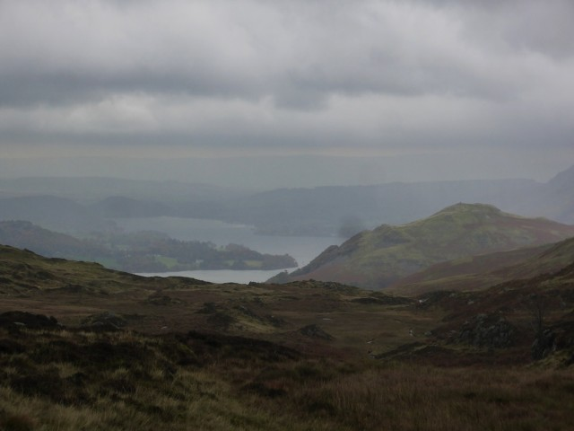 Ullswater from below of the summit of Place Fell