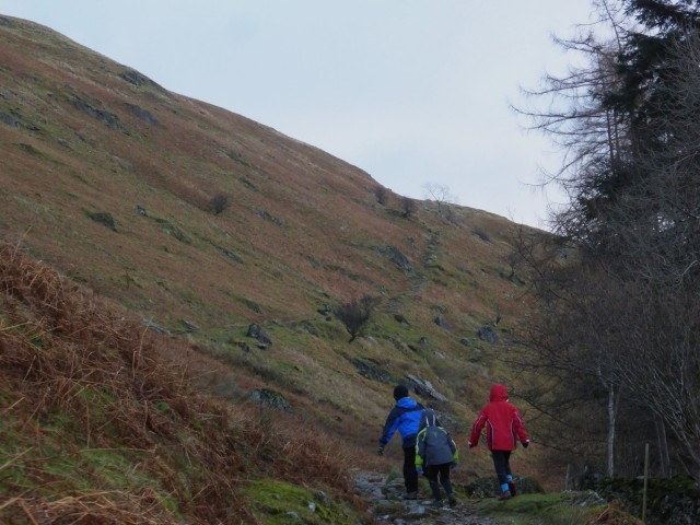 Walking up to Boredale Hause