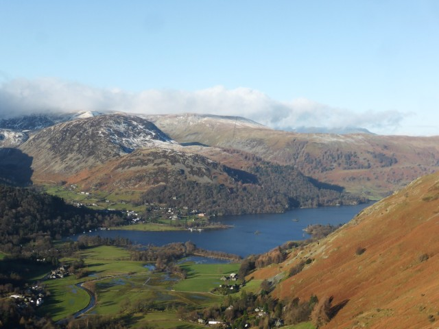 View to Ullswater from above Boredale Hause