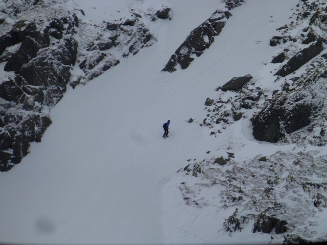 Climbing up the face of Helvellyn